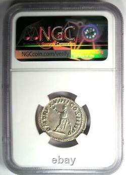 Roman Caracalla Ar Double Denarius Silver Coin 198-217 Ad Certifié Ngc Au