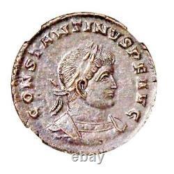 Roman Constantine I, Le Grand Coin Ngc Certifié Ua Dans Wood Box & Story Card