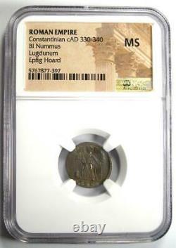 Roman Constantininian Bi Nummus Coin (330-340 Ad) Certifié Ngc Ms (unc)