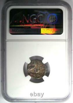 Roman D. Silanus Lf. Ar Denarius Silver Coin 91 Bc Certifié Ngc Choice Vf