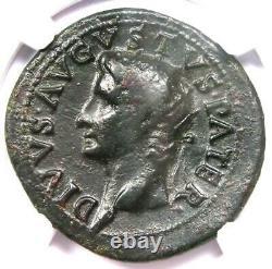 Roman Divus Augustus Ae Comme Pièce Sous Tibère 22-30 Ad Ngc Choix Amende