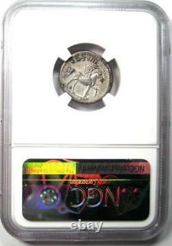 Roman Domitian Ar Denarius Argent Pegasus Coin 81-96 Ad Certifié Ngc Xf (ef)