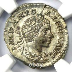 Roman Elagabalus Ar Denarius Silver Coin 218-222 Ad Certifié Ngc Ms (unc)