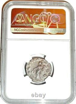 Roman Emperor Silver Volusian Coin Ngc Certifié Vf Avec Histoire, Certificat