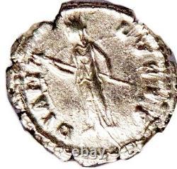 Roman Faustina Jr Argent Denarius Coin Ngc Certifié Xf Avec Histoire, Certificat