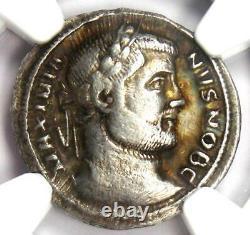 Roman Galerius Ar Argenteus Silver Coin 305-311 Ad Certifié Ngc Choice Vf