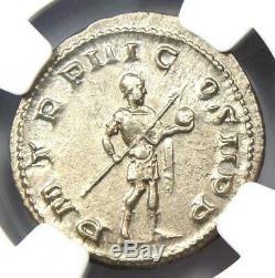 Roman Gordien III Ar Denier 238-244 Ad Coin Ngc Ms (unc) Condition
