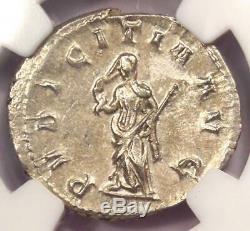 Roman H. Etruscilla Ar Double Coin Denier (249-253 Ad) Ngc Choice Au