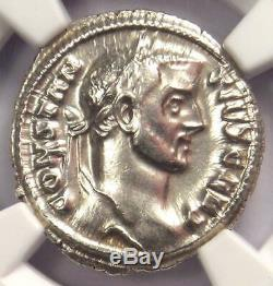 Roman I Ar Argenteus Constantius Silver Coin 305-306 Ad Certifié Ngc Au