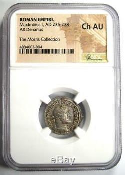 Roman I Ar Denarius Maximinus Silver Coin 235-238 Ad Certifié Ngc Choix De L'ua
