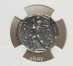 Roman Impératoire Jules César Denarius Vénus Ngc Ch Xf Pièce Ancienne
