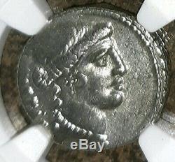 Roman Imperatorial. Albinus Brutus. 48 Av. Denier Superbe Pièce En Argent, Ngc Vf