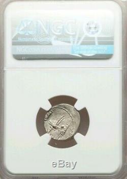 Roman Imperatorial Marc Antony Denier Ngc Ms 3/3 Ancient Silver Coin