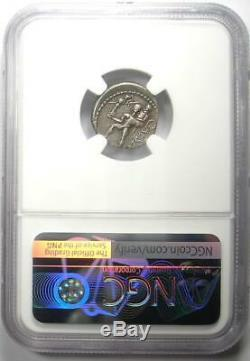 Roman Jules César Ar Denarius Argent Monnaie 48 Avant Jc Avec Vénus, Aeaneas Ngc Vf