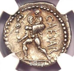 Roman Jules César Ar Denarius Argent Monnaie 48 Bc Vénus, Aeaneas Ngc Xf Choix