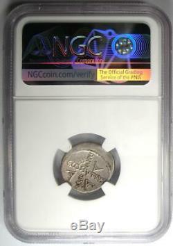 Roman Jules César Ar Denarius Maridianus Coin 44 Bc Certifié Ngc Choix Vf
