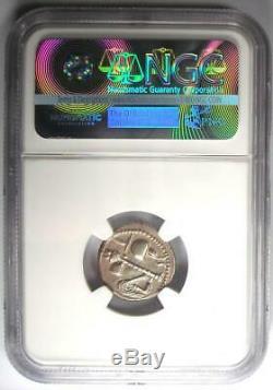 Roman Jules César Ar Denarius Monnaie 48 Bc Elephant Serpent Ngc Au 5 Grève