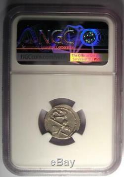 Roman Jules César Ar Denarius Monnaie 48 Bc Elephant Serpent Ngc Ua Condition