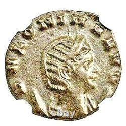 Roman Julia Cornelia Salonina Bronze Coin Ngc Certifié Au & Story Certificate