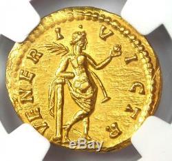 Roman Julia Domna Or Av Aureus Venus Coin 193-217 Ad Ngc Choice Au