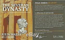 Roman Julia Maesa Antoninien Denier D'argent Monnaie Ngc Certifié Vf Et Histoire