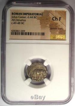 Roman Julius Caesar Ar Pièce Denarius 48 Le Serpent Des Éléphants Avant Notre Ère Choix Du Musée