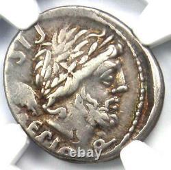 Roman L. Calp Piso Caesoninus Ar Denarius Silver Coin 100 Bc Certifié Ngc Vf