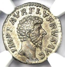 Roman Lucius Verus Ar Denarius Argent Pièce 161-169 Ad Certifié Ngc Au