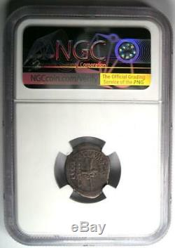 Roman Marc Antony Ar Denarius Silver Coin 32 Bc Certifié Ngc Choix Fin