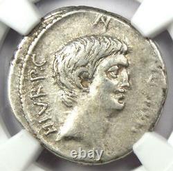 Roman Marc Antony Ar Denarius Silver Coin 41 Bc Certified Ngc Vf (très Fine)