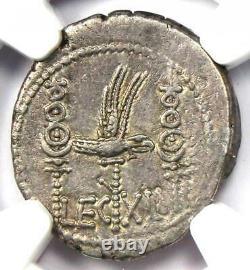 Roman Marc Antony Ar Denarius Silver Galley Coin 30 Bc Certifié Ngc Xf (ef)