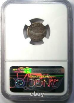 Roman Marc Antony Ar Denarius Silver Galley Coin 32 Bc Certifié Ngc Fine