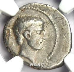 Roman Marc Antony Ar Denarius Sol Coin 42 Bc Certifié Ngc Vf (très Fine)