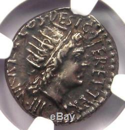 Roman Marc Antony Ar Pièce Denarius 33 Bc Certifié Ngc Choice Xf Condition