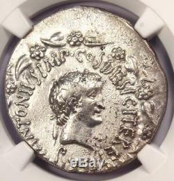 Roman Marc Antony Et Octavia Ar Cistophorus Coin 39 Av. Certifié Ngc Xf