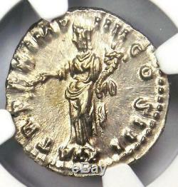 Roman Marc-aurèle Ar Denarius Coin (161-180 Ad) Certifié Ngc Ms (unc)
