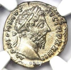 Roman Marcus Aurelius Ar Denarius Argent Pièce 161-180 Ad Ngc Choice Xf