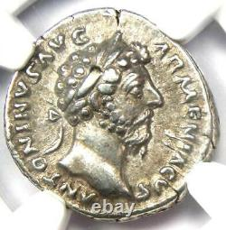 Roman Marcus Aurelius Ar Denarius Coin 161-180 Ad Certifié Ngc Xf (ef)