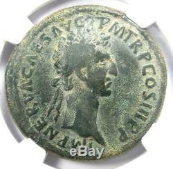 Roman Nerva Ae Sestertius Coin 96-98 Ad Certifié Ngc Choix Fin