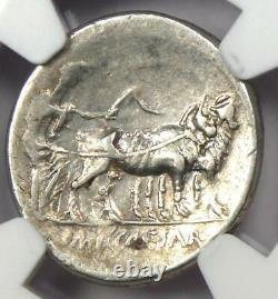 Roman Octave Augustus Ar Denarius Silver Coin 30 Bc Certifié Ngc Choice Vf