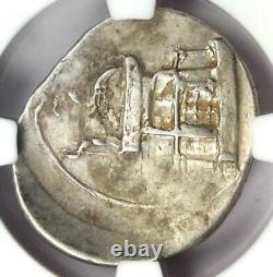 Roman Octave Augustus Ar Denarius Silver Coin 30 Bc Certifié Ngc Vf