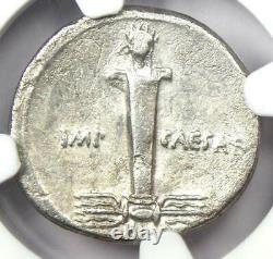 Roman Octave Augustus Ar Denarius Silver Coin 32 Bc Certified Ngc Vf