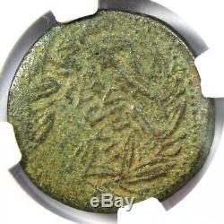 Roman Octavian (auguste) Ae Sestertius Coin 38 Bc Certifié Ngc Vf