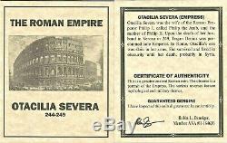 Roman Otacilia Severa Antoninien Denier D'argent Monnaie Ngc Certifié Vf Et Histoire