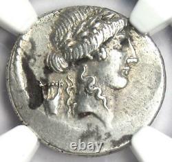 Roman P. Clodius M. F. Turrinus Ar Denarius Coin 42 Bc Certifié Ngc Au