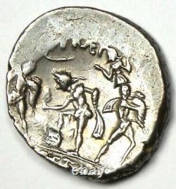 Roman Pompée Magnus Ar Denarius Silver Coin 42 Bc Certifié Ngc Xf Certificat