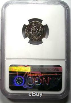 Roman Pompey Magnus Ar Denarius Argent Monnaie 42 Bc Certifié Ngc Vf (plugged)