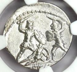 Roman Q. Minucius Thermus Mf. Ar Denarius Mars Coin 103 Bc Certifié Ngc Au