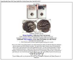 Roman Republic Rome 90bc Rome Apollo Horse Racing Ancient Silver Coin Ngc I69804