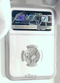 Roman République 115bc Anonyme Ancien Argent Monnaie Loup Romulus Remus Ngc I77274